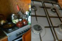 Чистка плиты